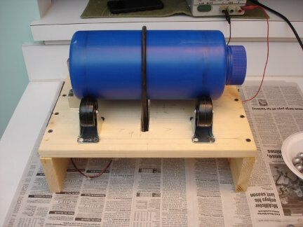 My home-built ball mill.