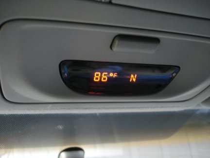Repairing the temperature and compass display in my Toyota Tacoma.