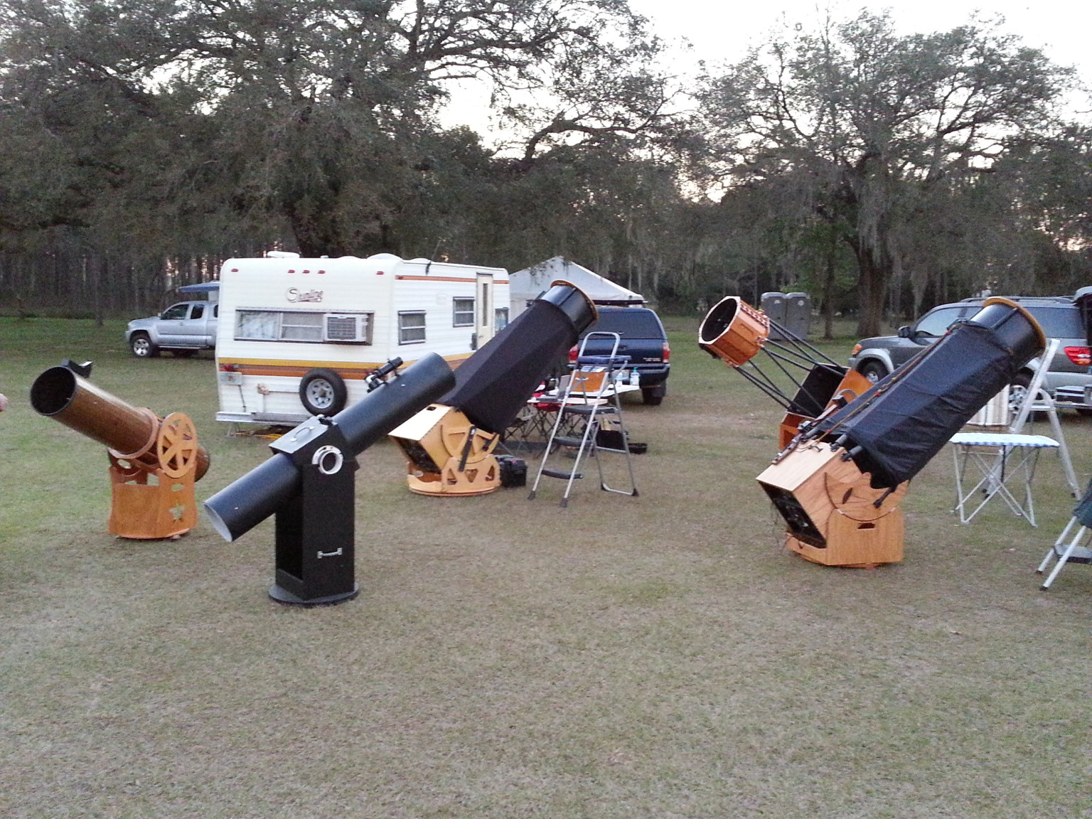a view of the Valley of the Dobs at the 2015 Orange Blossom Special Star Party.