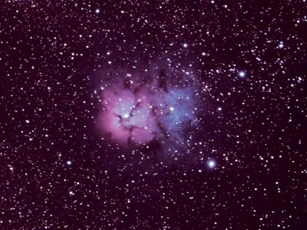 The Trifid Nebula.