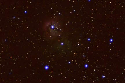 A photo of the Trifid Nebula from my Arizona property.