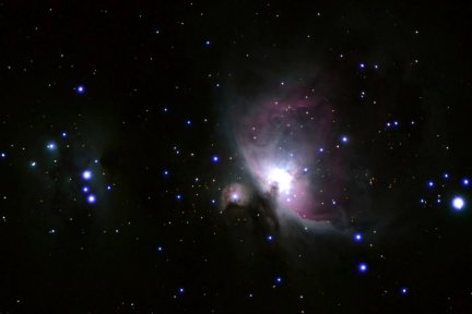 A photo of the Great Orion Nebula taken from my Arizona property.