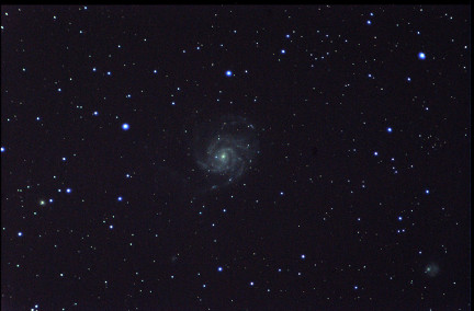 A photo of galaxy M101.