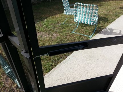 A new screen door closer cylinder installed.
