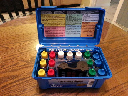 My new pool test kit.