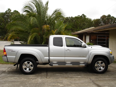 Side view of my new Toyota Tacoma 4X4 Pickup Truck