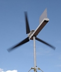 Home-built electricity generating wind turbine