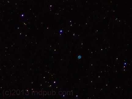 A photo of the Ring Nebula.