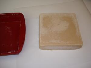 Home-made soap out of the mold