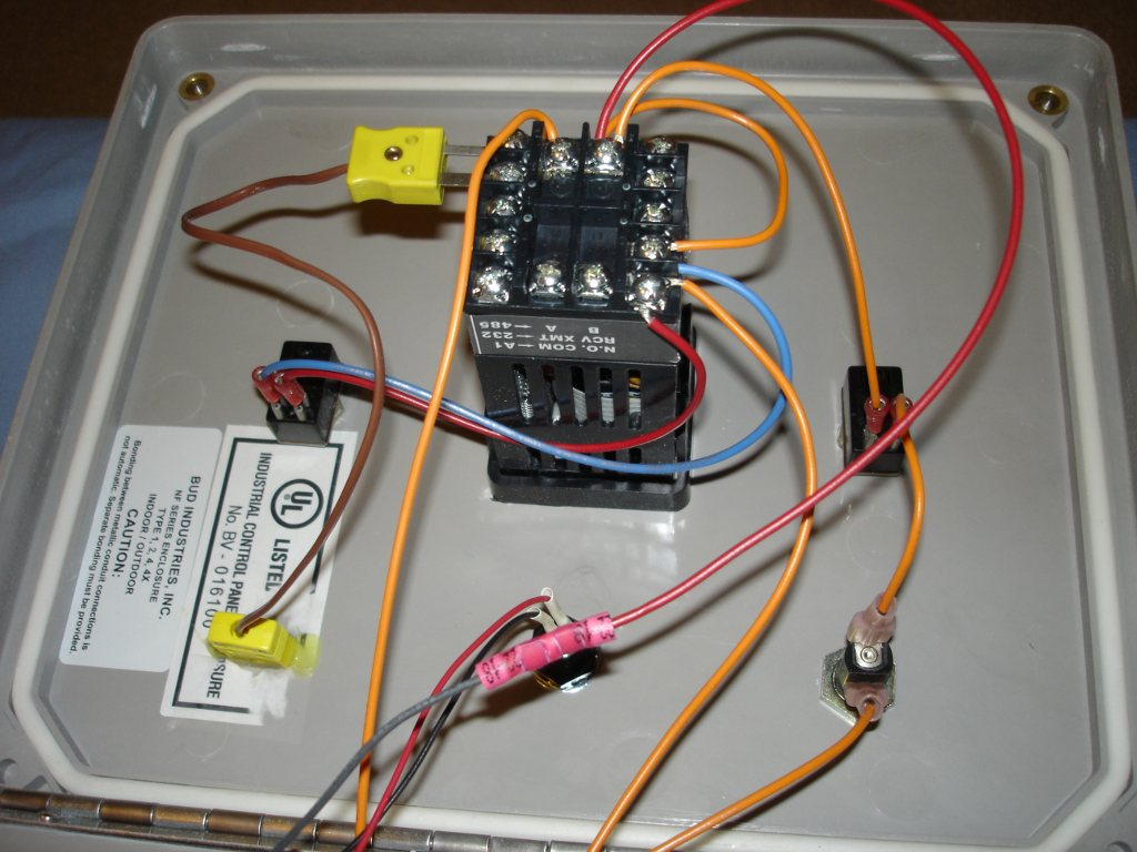 My Home Made Kiln Controller Wiring Diagram A Third Look Inside The