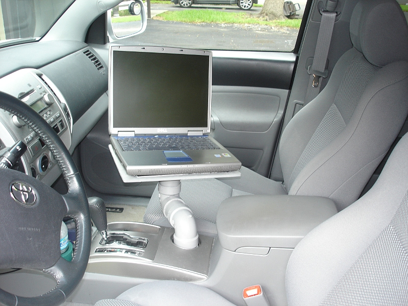 Cheap And EZ DIY Laptop Mount For Yer Car