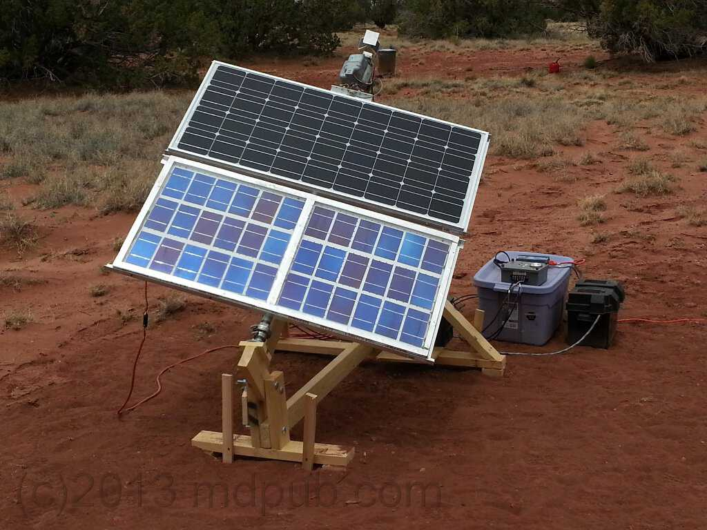 My home-built solar panel sun tracking platform.