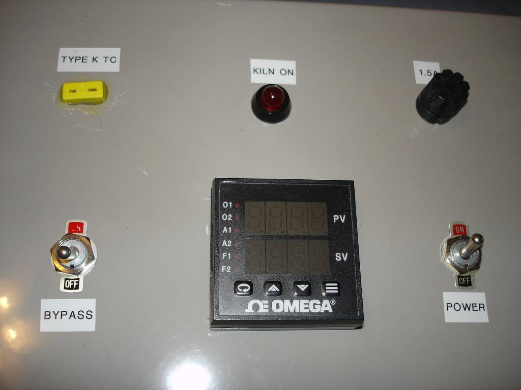 My Home Made Kiln Controller Pid Wiring Diagram The Front Panel Of