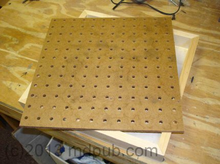 how to cut a hole in pegboard